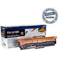 Brother TN241BK Toner Cartridge, Standard Yield, Brother Genuine Supplies, Black