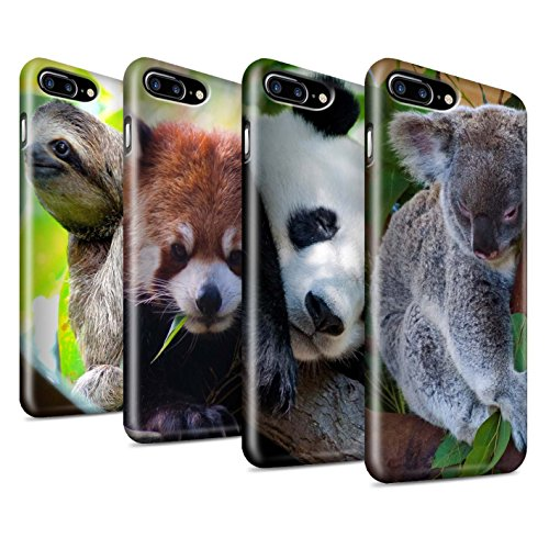 STUFF4 Matte Snap-On Hülle / Case für Apple iPhone 7 / Pfau Muster / Wilde Tiere Kollektion Multipack Bären