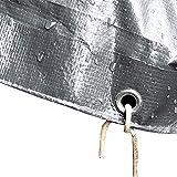 GDMING Impermeabile Telone Telo Copertura Occhiello A Prova di umidità Foglio di Copertura del Suolo for Piante da Giardino Tenda da Campeggio, 20 Taglie (Color : Silver, Size : 1.8x2.8m)