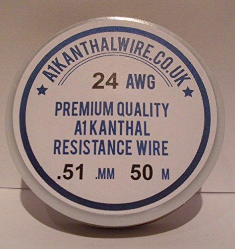 Kanthal A1Tipo Filo di resistenza-(connettore) 0.5mm Bobina 50metri-7.23Ohm/m