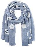Tommy Hilfiger Damen Schal DOTS Stripe Scarf, Blau (Dutch Blue 484), One Size (Herstellergröße: OS)