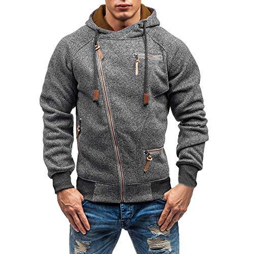 Yvelands Sweatshirt Herren Herbst Winter Langarm Kapuzen Outwear -