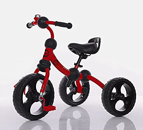 Little Bambino Kids Tricycle For Toddler Age 3-6 Year Old Bike Trike n Ride Red