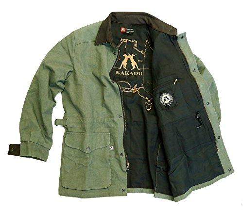 Kakadu Traders Australia - Chaqueta - para hombre verde Moss X-Large 5142e8d2df1