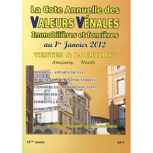 Valeurs vénales au 1er janvier 2012