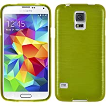 PhoneNatic Samsung Galaxy S5 Mini Funda Silicona Pastellgrün Brushed Case Galaxy S5 Mini Funda + 2 Protectores