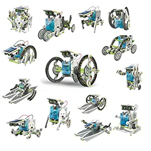 51VMCLuws6L. SS300  - itsImagical 14X1 Eco-Robot - Kit para construir robots solares, unisex