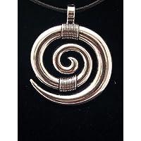 Colgante en Zamak metalizado y Acero, Espiral