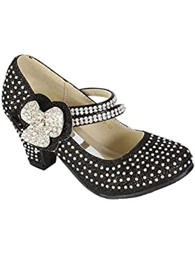 MYSHOESTORE® Ragazze Scarpe Bambini o Damigella Strass starppy Mary Jane stile scarpe corte Blocco Basso Tacco...