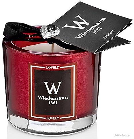 """Parfum Duftkerze im Glas, Geschenkedition """"Lovely"""" mit Svarovski Herz-Anhänger, Altrot 80 x 85, Brenndauer 35 Stunden"""