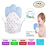 #10: DaKos Teething Mitten for Infants, Baby Boys & Girls, Silicone Teething Mitt Teether Gloves BPA Free, Self-Soothing Pain Relief Mitt, Teething Toys, Ideal Baby Shower Gift (Single Piece)