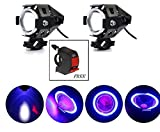 #10: AutoSun Super Power Spot Beam U7 LED Fog Light, Three Mode High Beam 2x 125W CREE Fog Spotlight for Motorcycle/ATV/Truck w/ Blue Ring (Pack of 2) Free Switch