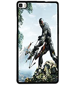 ColourCraft The Warrior Design Back Case Cover for HUAWEI P8