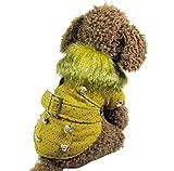 wikibird Moda Terciopelo Prendas de Vestir Pequeño Traje Perros Pequeños Invierno Peluche Abrigo Suave