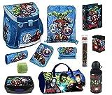 Familando Avengers Schulranzen-Set 15tlg. Scooli Campus Up mit Sporttasche Federmappe und Regenschutz