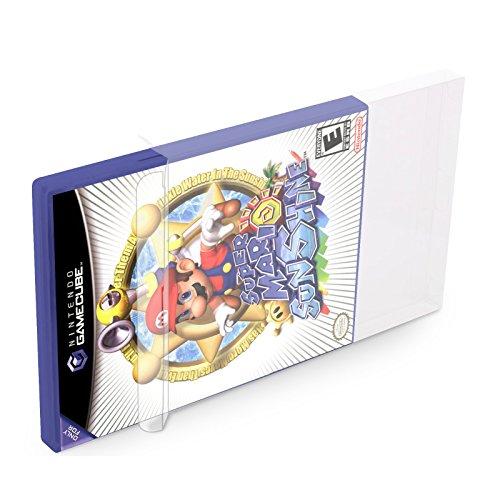 20 Klarsicht Schutzhüllen GAMECUBE [20 x 0,3MM GAMECUBE] Spiele Originalverpackungen Passgenau Glasklar