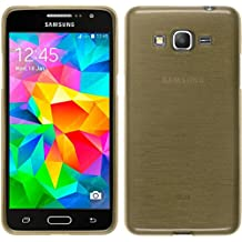 Funda de silicona para Samsung Galaxy Grand Prime - brushed oro - Cover PhoneNatic Cubierta + protector de pantalla