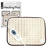 Luxurious Soft Electric Heat Pad - Therapeutic, Soothing Pain Relief Therapy for Arthritis, Tension, Stomach, Back, PMS and more