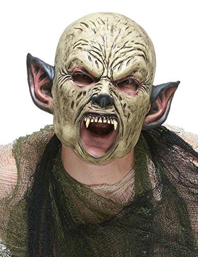 Orks-Maske aus Latex (Zähne Ork Kostüm)