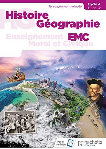 Histoire - Géographie - EMC SEGPA Cycle 4 (5e, 4e, 3e) - Livre élève - Éd. 2018 par Cristhine Lécureux