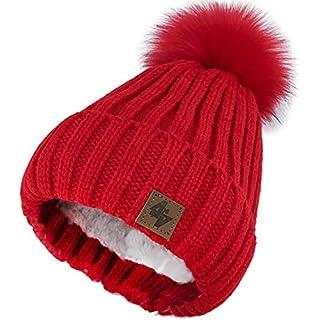 6ba64edf6892a6 4sold Herren Damen Wurm Winter Style Beanie Strickmütze Mütze mit  Fellbommel Bommelmütze Hat Gestrickte Pudelmütze Plain