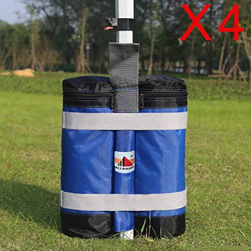 AbcCanopy Super Heavy Duty New Premium Instant Schutzdach Gewicht Taschen (55lbs/Tasche)-Set von 4-Blau/Schwarz -
