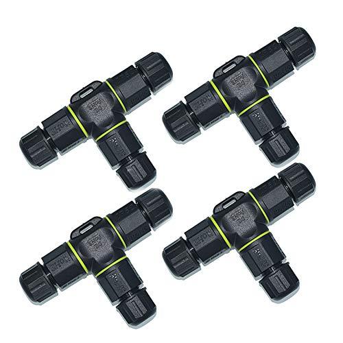 Shentesel Kabelverbinder, wasserdicht, 3-polig, männlich, weiblich, Verbindungszubehör Mini Travel Ac Adapter