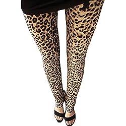 Pantalones Mujer Largos Leggings Pantalones Leopardo Leggins Talle Alto Leggings Casual Leopardo7 Un-Tamaño