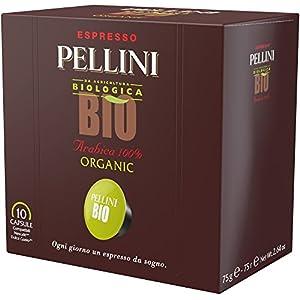 Pellini Caffè - Espresso Pellini Bio Arabica 100% (6 Astucci da 10 Capsule, Totale 60 Capsule), Compatibili Nescafé…