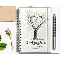 Hochzeitsplaner Hochzeitscheckliste - Deutsch - Wedding planer PERSONALISIERT Baum der Liebe