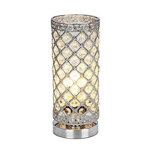 BEANDENG Kristall Tischlampe Touch Control Dimmbar Akzent Schreibtischlampe Nachttischlampe Moderne Tischleuchte mit Splitter Lampenschirm Nachtlicht Leuchte für Wohnzimmer Schlafzimmer Küche -