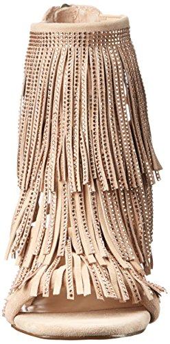 Sandale Steve Madden Fringly talon noir avec une frange et strass Blush Multi