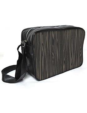 Snoogg schwarz Holz Textur Leder Unisex Messenger Bag für College Schule täglichen Gebrauch Tasche Material PU