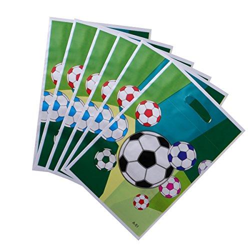 TOYMYTOY 24 Stück Fußball Partei Geschenk Taschen | Fußball PE Papier Süßigkeitstaschen, Kindergeburtstags Gastgeschenk