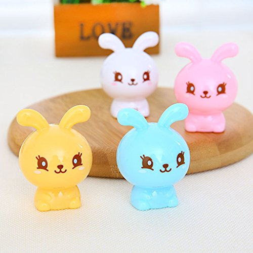 Hothap 1 pz kawaii animali scrivania student plastica cartoon coniglio temperamatite