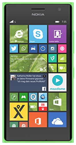 "Nokia Lumia 735 - Smartphone libre Windows Phone (pantalla de 4.7"", cámara 6.7 Mp, 8 GB, Quad-Core 1.2 GHz, 1 GB de RAM), verde [Importado de Francia]"