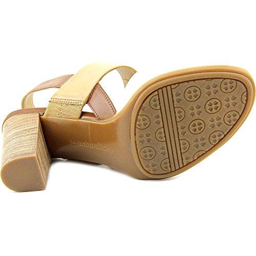 Naturalizer Lahnny Damen Offener Spitze Leder Slingback Sandale Sand Smooth