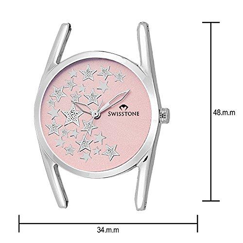 SWISSTONE Analogue Pink Dial Women's Watch -Dzl147-Pnk