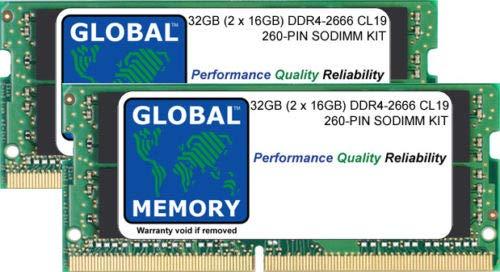 32GB (2 x 16GB) DDR4 2666MHz PC4-21300 260-PIN SODIMM Memoria RAM Kit per 27 Pollici Retina 5K iMac (2019)