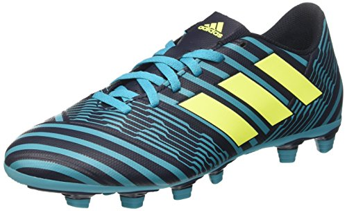 adidas nemeziz 74 fxg, scarpe da calcio uomo, multicolore (legend ink/solar yellow/energy blue), 46 eu