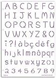 Mahé LE08Schablone Alphabet Calisson Kunststoff transparent 21x 30x 0,1cm