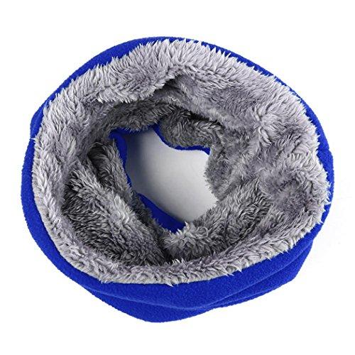 MIOIM Kinder Loop Schal Jungen Mädchen Winter Fleece Loopschal Kinderschal Rundschal ab 1 Jahre (Blau)