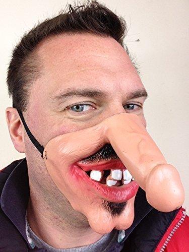 Lustig Halbes Gesicht DICK NASE WILLY Gesichtsmasken, Grau, Ingwer, Alter Mann, Hing Jungessellen Party Kostüm Maskenkostüm Zubehör - Dick ()