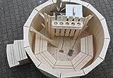 Giardino Sauna Hot Tub Vasca da bagno vasca idromassaggio piscina 180cm Nuovo bagno botte in acciaio inox Forno in magazzino