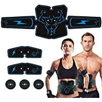 NIULLA Estimulador Muscular Recargable AB Toner Belt Abs Entrenador De Fitness Equipo De Entrenamiento para Perder Peso Edificio Muscular
