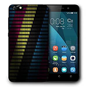 Snoogg Multiocolor Strips Printed Protective Phone Back Case Cover For Huawei Honor 4X