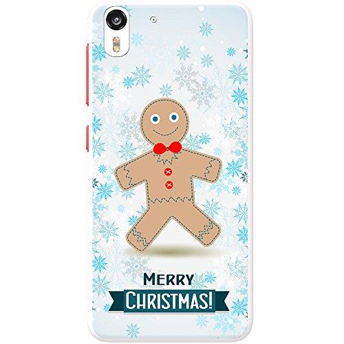 Winter Wonderland fiocchi di neve animali rigida custodia per telefoni cellulari, PLASTICA, Gingerbread Man With Bow Tie, HTC Desire Eye