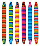 Moses 26147 Wachsmaler Multi-Color | Mehrfarbige Wachsmalstifte | Im 6er Set
