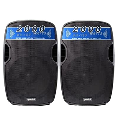 GEMINI AS 15P - Coppia Altoparlanti/Diffusori Amplificati/casse attive Professionali 4000 watt di picco totali prezzo scontato su Polaris Audio Hi Fi