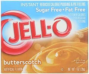 Jello Sugar Free Butterscotch Pudding Mix 28g